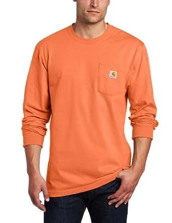 Carhartt Crewneck Pocket T-Shirt, Orange, Small