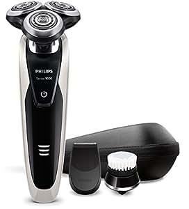 Philips Serie 9000 S9090/43 - Afeitadora electrica, uso en seco y humedo, funda de viaje, recortador de precision y cabezal de limpieza