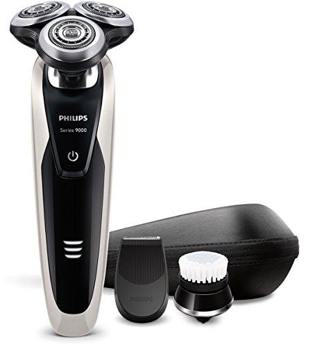 Philips S9090/43 Series 9000 Nass- und Trockenrasierer (Präzisionstrimmer, Gesichtsreinigungsbürste)