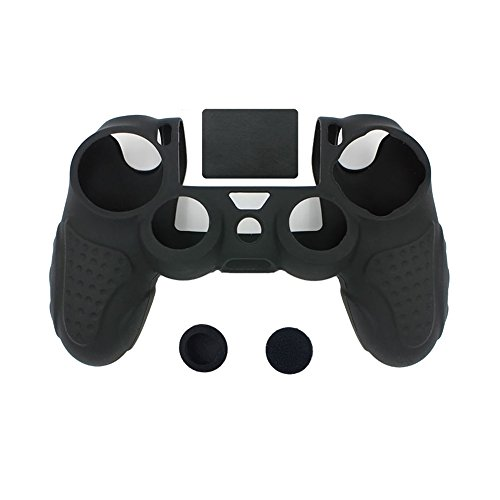 IINE-Anti-slip-Silicone-Cover-Skin-Set-for-PlaySation-4-controller-black