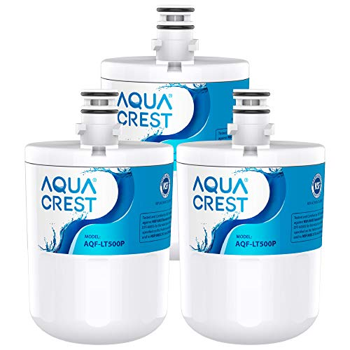 AQUACREST LT500P Filtros de agua para frigorifico, Compatible con LG LT500P, WSL-1, WF-290, 5231JA2002A, ADQ72910902, ADQ72910901, 5231JA2002B, Kenmore GEN11042FR-08, GEN11042F-08, 46-9890 (3)