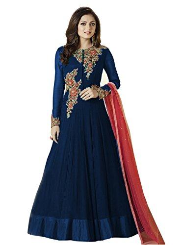 blue anarkali dress - 5