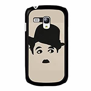Classical Comedy Charlie Chaplin Phone Case For Samsung Galaxy S3 Mini DIY Pattern Black Case