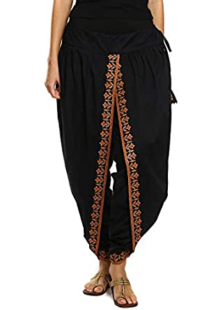 9rasa Women's Cotton Chudidar Bottom BT-11_Black_Freesize