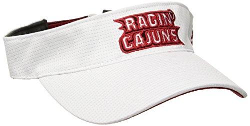 adidas NCAA Louisiana Lafayette Ragin' Cajuns Adult Men Spring Game Visor, One Size, White (Training Hats Spring)