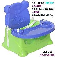 Toyboy Honey Bee 5 In 1 Baby Booster Seat Cum Swing - Blue
