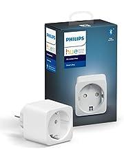 Philips Hue smart plug - Voeg Elke Lamp Toe aan je Hue Systeem - Compacte Slimme Stekker - Verbind met Bluetooth of Hue Bridge - Werkt met Alexa en Google Home