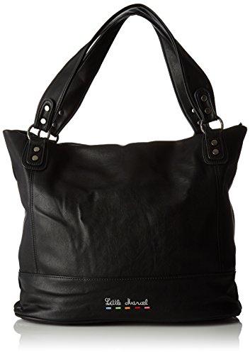 Little Marcel Id03, Sac porté épaule Noir (Black)