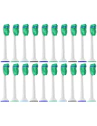 Oliver James Replacement Toothbrush Heads Compatible with Philips Sonicare ProResults, 20 Pack, fits 2 Series Plaque Control 3 Series Gum Health DiamondClean EasyClean FlexCare HealthyWhite  Essence+