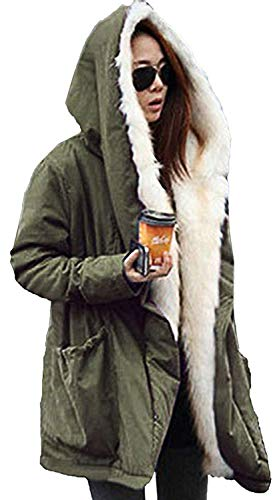 Chaud Les Tous Longues Manteau Parka Jours Hiver Manches Loisir Fashion Baggy paissir Parkas Longues Art Costume lgant Transition Grn Fourrure De Velours Capuchon Femmes Fashion Outerwear pais xqZx06