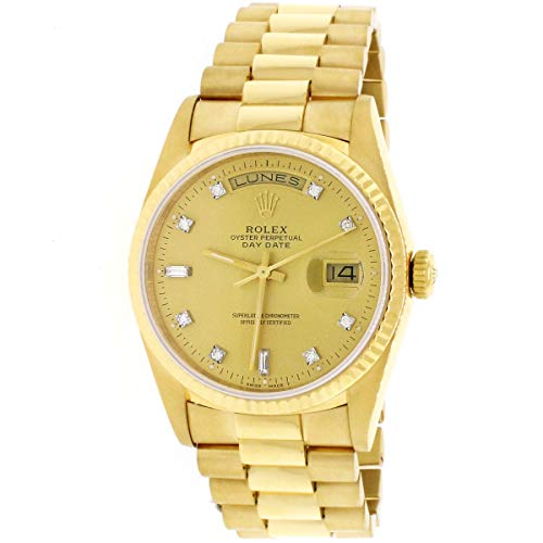 Rolex President Day-Date Yellow Gold Original Champagne Diamond Dial 36MM 18238