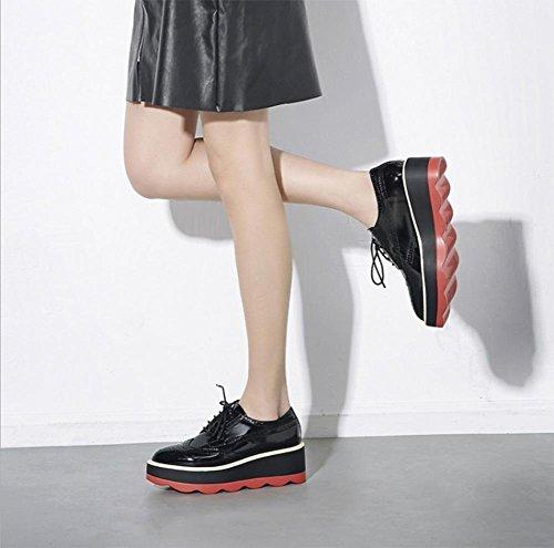 los la señora panecillo punta los zapatos zapatos suela UK3 zapatos de boca la US5 con de de zapatos en profundidad con Sra de del 5 de gruesa zapatos EU35 CN35 5 primavera elevador FrqxwFHt