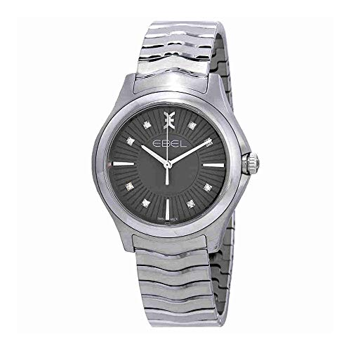 Ebel Wave Diamond Grey Dial Ladies Watch 1216307