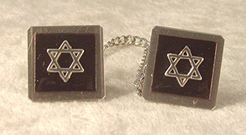Star of David Copper-Enameled Black Tallit ()