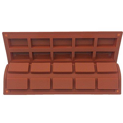 Funshowcase 20 Cavities Rectangular Muffin Cake Pan Soap Chocolate Bar Silicone Mold