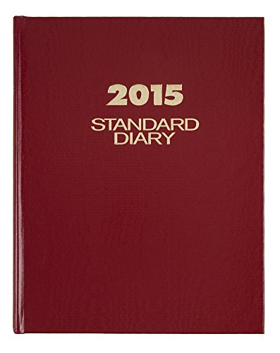 13 Standard Diary - AT-A-GLANCE Standard Diary Daily Diary 2015, Hardcover, 7.5 x 9.44 Inch Page Size, Red (SD374-13)