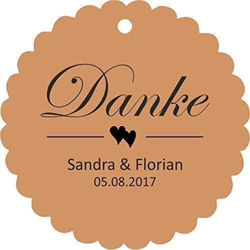 25 Geschenkanhänger Etiketten Tags Hochzeit Taufe Kommunion Konfirmation