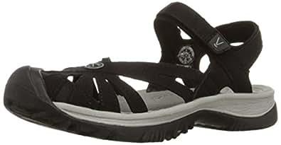 KEEN Women's Rose Sandal,Black/Neutral Gray,5 M US
