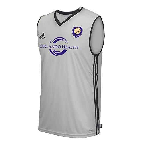 - adidas Orlando City SC MLS Men's Wordmark Onix Grey Climacool Adizero Sleeveless Training Tank Top (Medium)