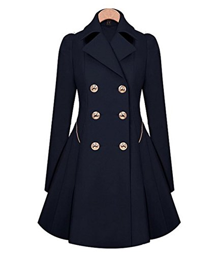 Elegant Trench Jacket Breasted Overcoat