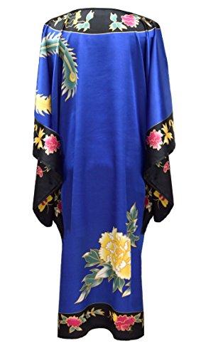 Boubou Drago Casa Abito Elegante Nero Tipo Kimono E Donna Per A Blu Maniche Da Farfalla Vestaglia AqnBq7twxY