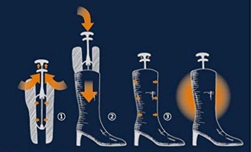 automatici con manico 31,8/cm 1/paio di tendistivali modellatori per stivali da donna
