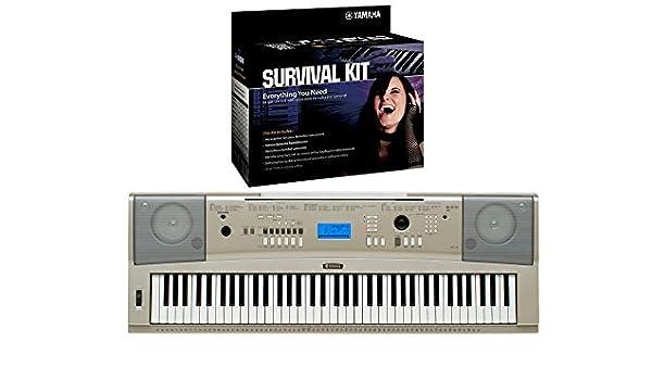 Yamaha YPG-235 Piano portátil teclado de 76 teclas con D2 Kit de supervivencia: Amazon.es: Instrumentos musicales