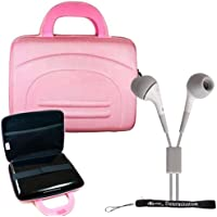 Sony DVPFX950 9-Inch Portable DVD Player Hard Nylon Traveling Case + Includes a eBigValue (TM) Determination Hand Strap Key Chain + Includes a Crystal Clear HD Noise Filter Earbuds Earphones Headphones 3.5mm Jack