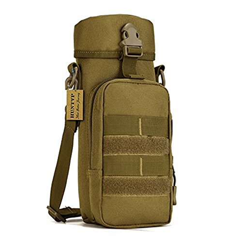 Plus Water (Protector Plus Tactical Water Bottle Pouch Military Shoulder Molle Pack Gear Waist Back Pack)