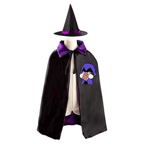Cyborg Costume For Sale (Teen Titans Kids Halloween Party Costume Cloak Wizard Witch Cape With Hat)