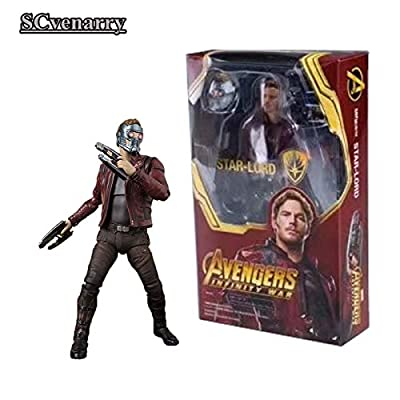 VIET FG Marvel Legends Avengers Infinity War Star Lord Peter Quill Hot Toys PVC Action Figure Collectible Model Toy 14cm- Gift for Your Kids