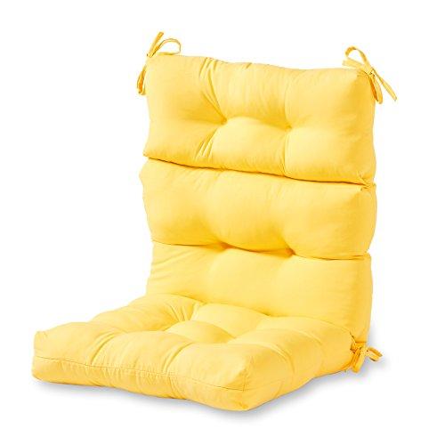 Greendale Home Fashions Indoor/Outdoor High Back Chair Cushion, Sunbeam (Cushions Furniture Yard)