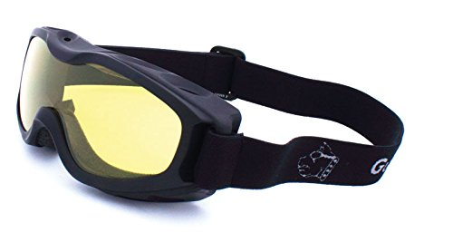 Guard-Dogs Goggles, Evader 2 Matte Black (Golden w/FogStopper)