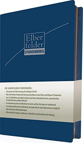 Elberfelder Studienbibel - ital. Kunstleder, blau, mit Reißverschluss: mit Sprachschlüssel und Handkonkordanz