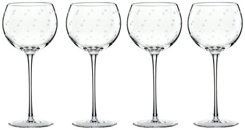 Etched Balloon Wine Glass - kate spade new york Larabee Dot Balloons Wine Glasses, Set of 4