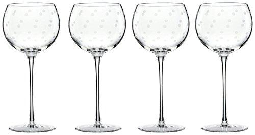 kate spade new york Larabee Dot Balloons Wine Glasses, Set of - Dot Glasses