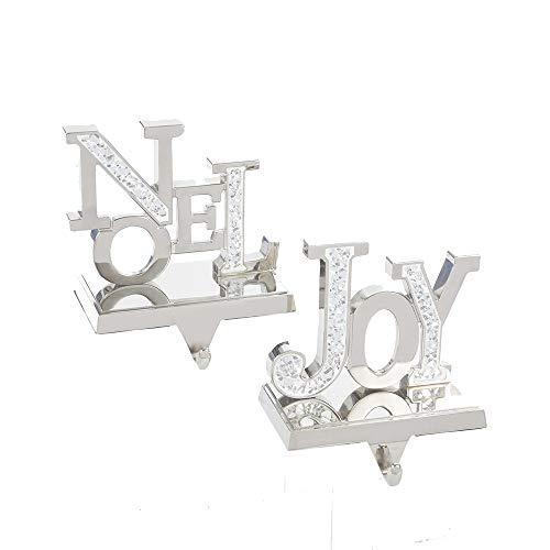 Kurt Adler Joy and Noel Stocking Hangers, 2 Assorted (Disney Stocking Hangers)