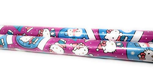 Christmas Wrapping Paper Merry Christmas Happy Holidays Paper Gift Greetings 1 Roll – Hello Kitty ()