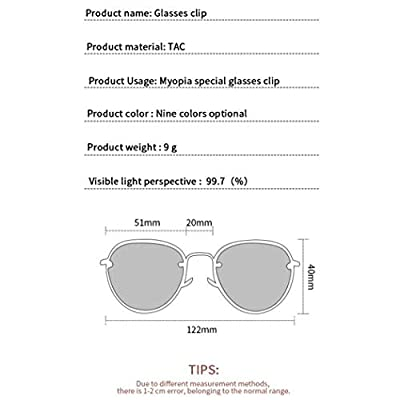 Sweetstore Unisex Glasses Clip On Sunglasses Women Men Driving Night Vision Lens Sunglasses Clips Glasses Accessories (Grey): Toys & Games
