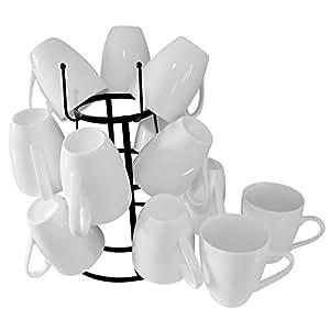 Evelots Vintage Mug Drying Stand, Metal Cup & Mug Rack Dryer,Kitchen Accessories