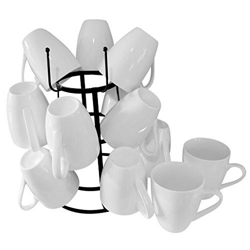 Evelots-Vintage-Mug-Drying-Stand-Metal-Cup-Mug-Rack-DryerKitchen-Accessories