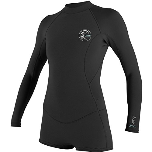 O'Neill Wetsuits Womens 2/1 mm Bahia Long Sleeve Spring Wetsuit, Black, 10