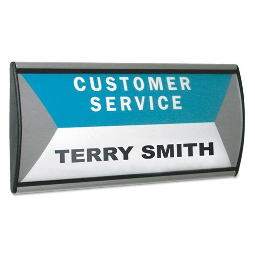 (People Pointer Wall/Door Sign, Aluminum Base, 8 3/4 x 4, Black/Silver (Renewed))