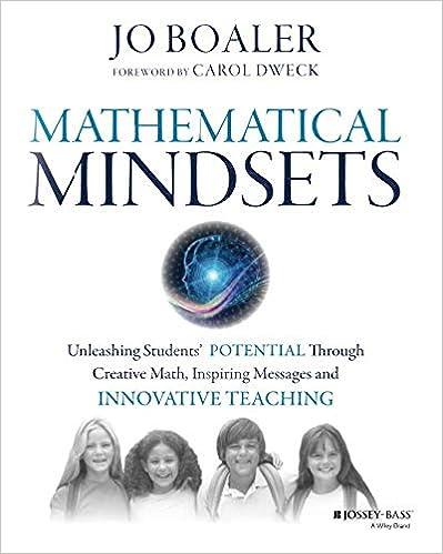 Amazon com: Mathematical Mindsets: Unleashing Students' Potential