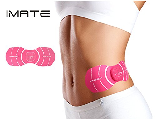 IMATE EMS Ab Stimulator Toning Belt Ab Muscle Trainer Abdominal Smart Muscle Trainer Training for Abdomen/Arm/Thigh/Waist Support for Men and Women USB Rechargeable