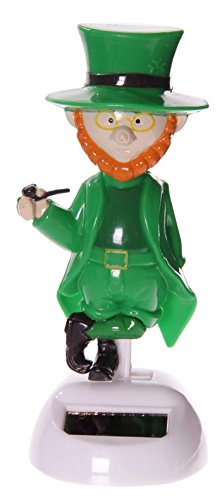 Dochsa Lucky Larry Leprechaun Funny Dancing Novelty Solar Pal by