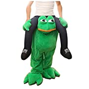 Emmarry costumes Halloween Magic Funny Pants Piggyback Ride On Riding Animal Shoulder Adult Costume Bindspeaker Pants-One Size (Ship by DHL) (Frog)