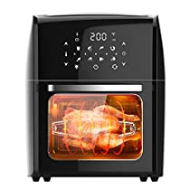CARIHOME Air Fryer Convection Oven Combo 1800W 12.7-Qt with Time and Temperature Control for Rotary Roast, Dehydrate Bake,Oilless Cooker,Fry (M10421-1-AMZ003US)