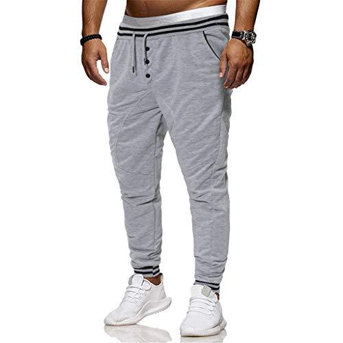 Occasionnels Chino Running Pantalon Survêtement Poche De Sport Jogging Couture Homme Décontractée Taille Grande Pantalons Solike Gris Avec wOIqBRSn
