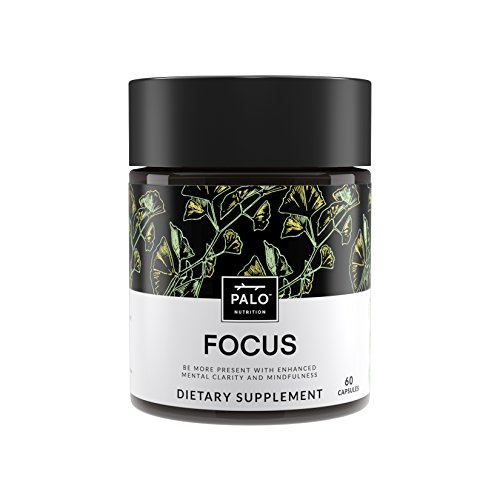 Focus | All-Natural Brain Booster & Nootropic for Memory & Mental Clarity - with Ginkgo Biloba, Bacopa Monnieri, Gotu Kola, Ashwagandha & Mucuna Pruriens. by PALO Nutrition